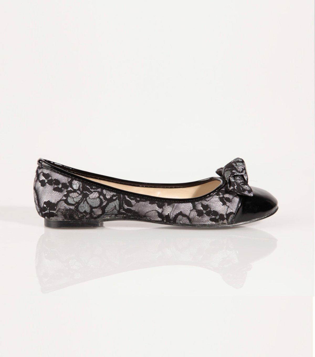 nuevo concepto fee59 49901 Zapatos bailarinas mujer con blonda