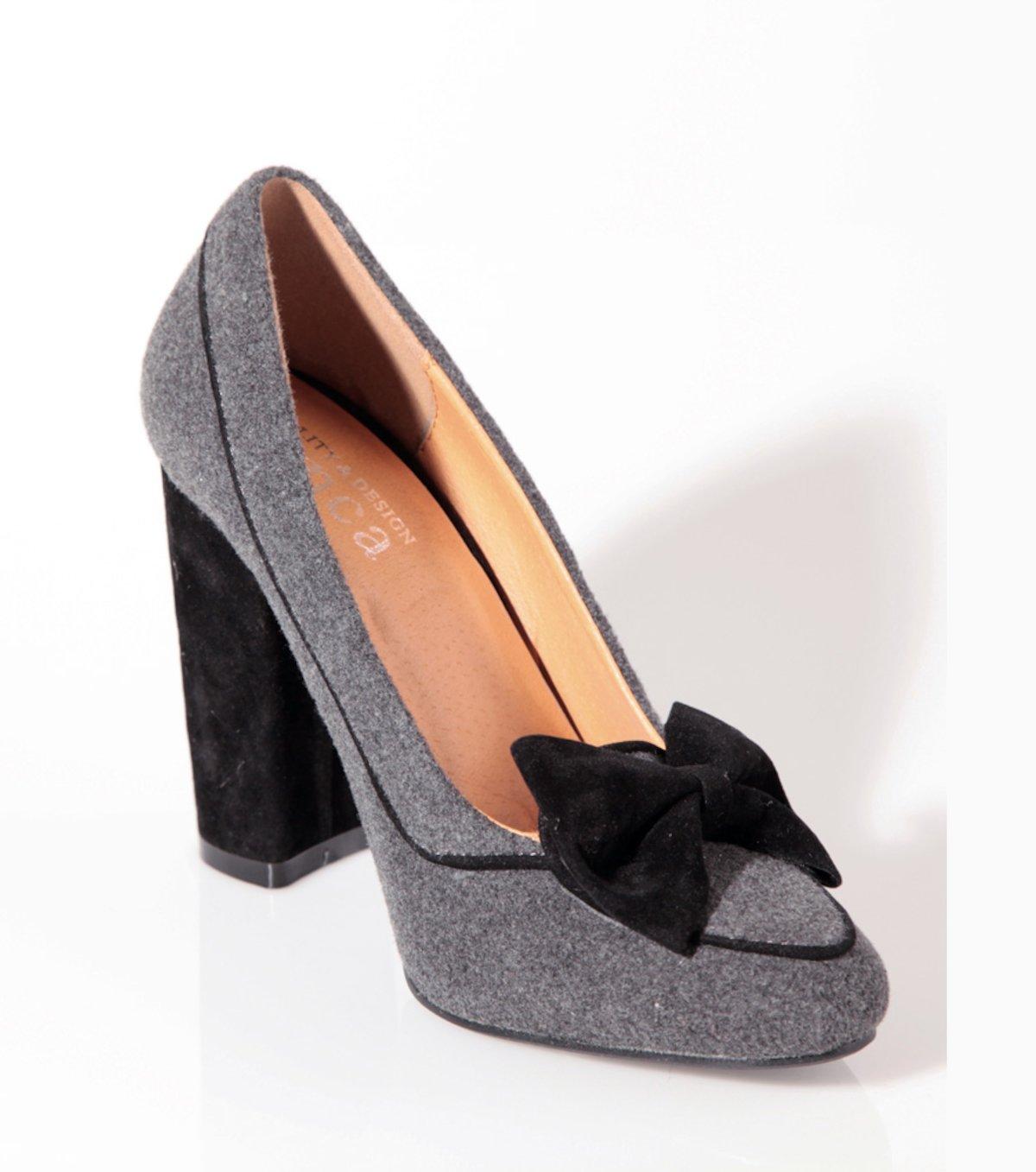 Tacón Mujer Con Lazo De Zapatos Terciopelo N08nvmw