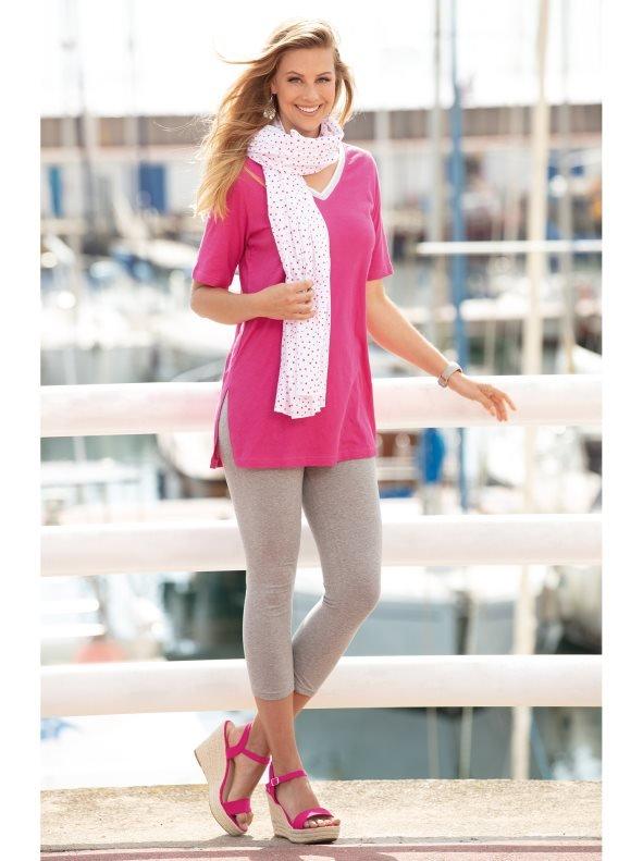 Conjunto 3 piezas camiseta legging y fular - Rosa