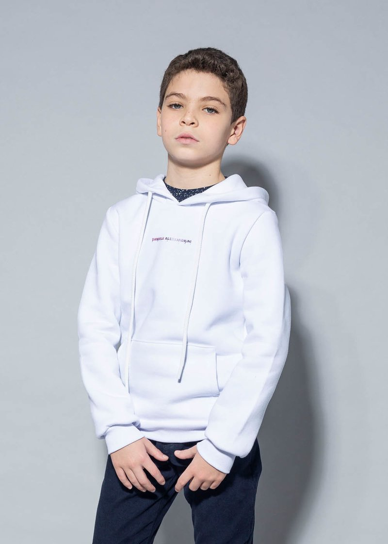 COTTON SWEATSHIRT WITH TWO-TONED LOGO