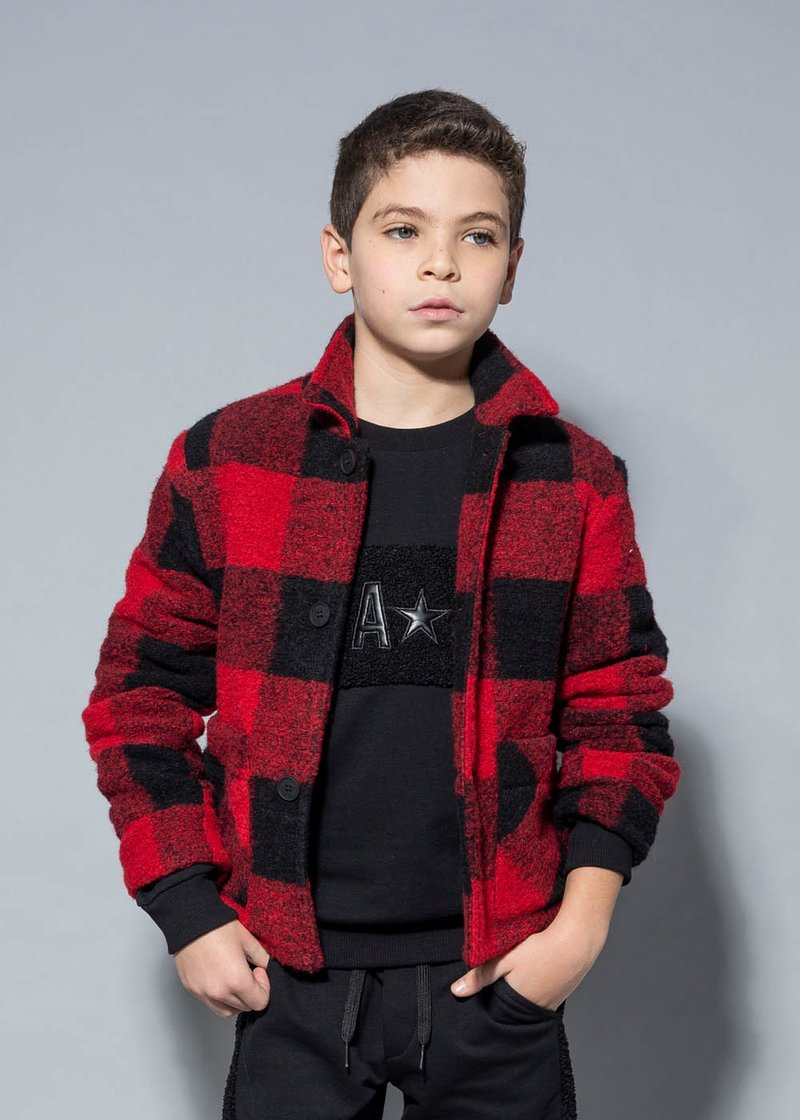 JACKET WITH CHECKED PATTERN
