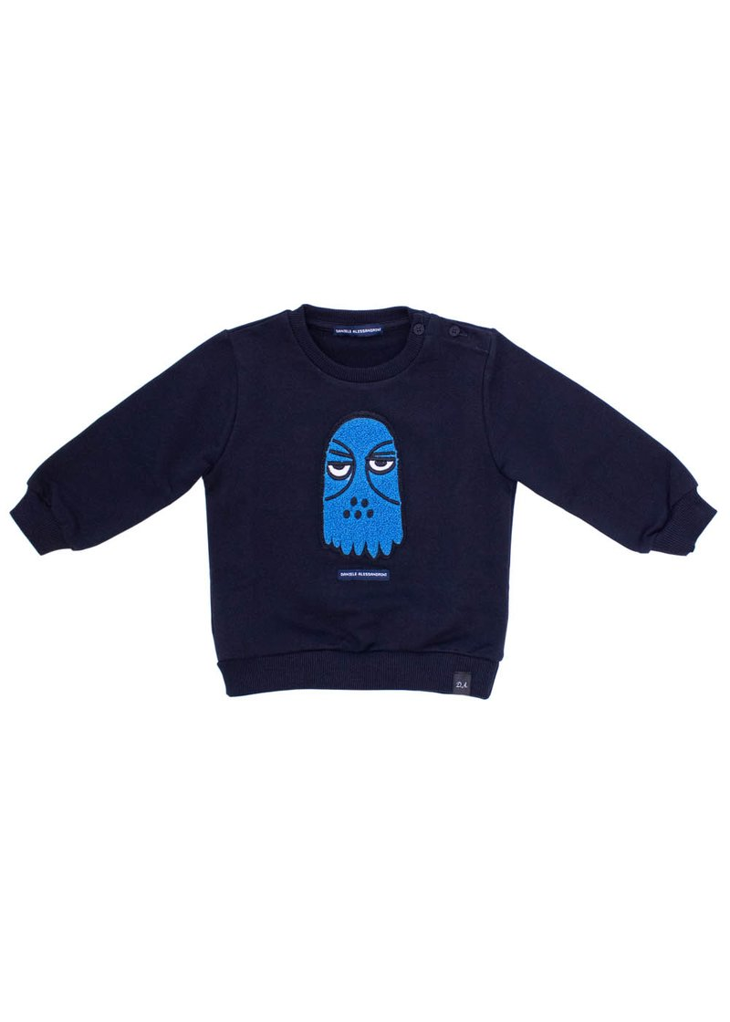 COTTON SWEATSHIRT WITH LITTLE MONSTER APPLICATION