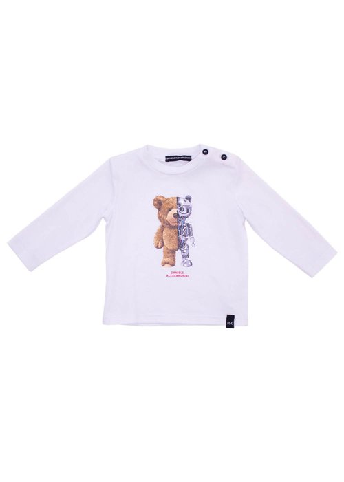 LONG SLEEVES T-SHIRT WITH PRINTED TEDDY BEAR
