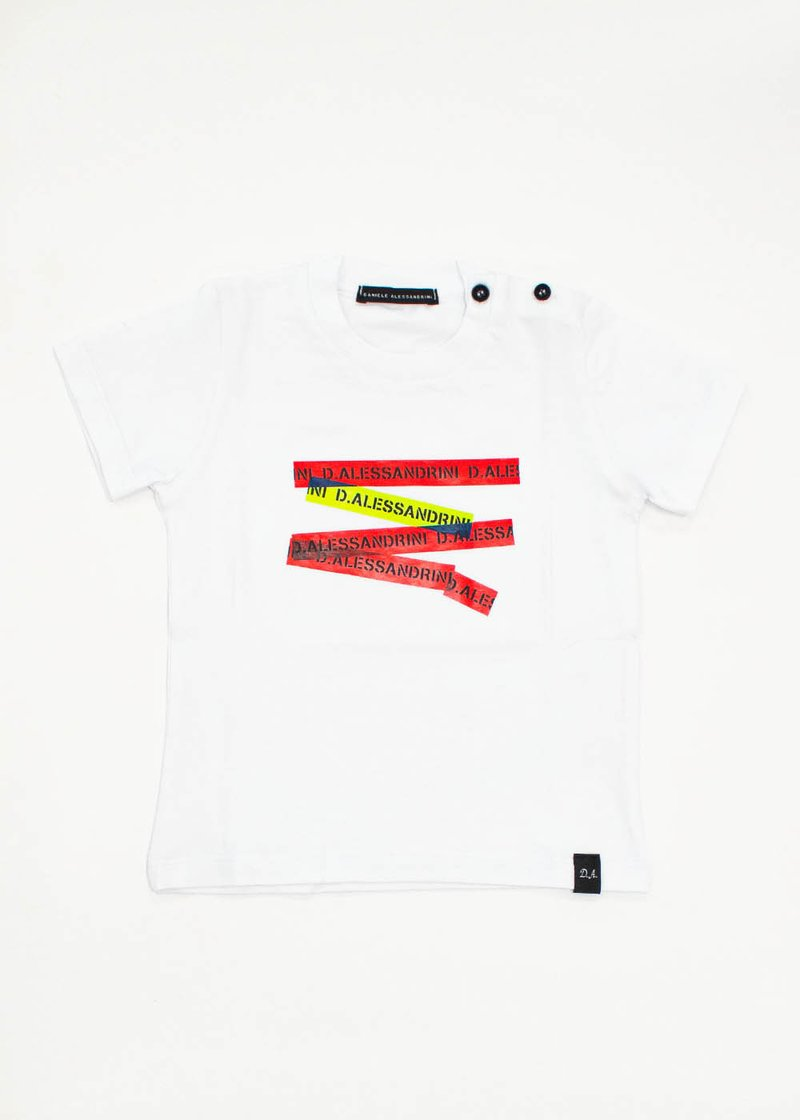 COTTON T-SHIRT WITH FLUO PRINTING