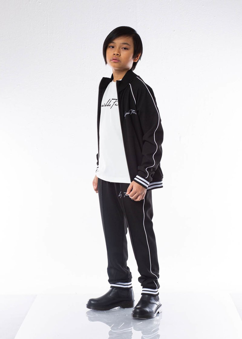 PLEATED SWEATPANTS WITH EMBROIDERE LOGO