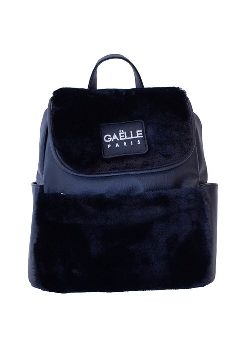 ECO-FRIENDLY LEATHER BACKPACK SYNTHETIC FUR
