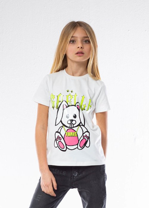COTTON T-SHIRT WITH FLUORESCENT PRINTING