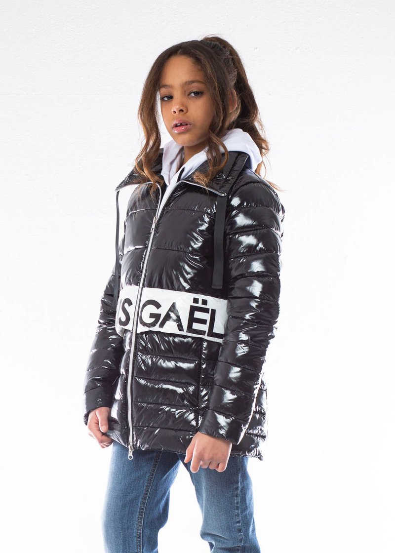QUILTED JACKET WITH PRINTED LOGO