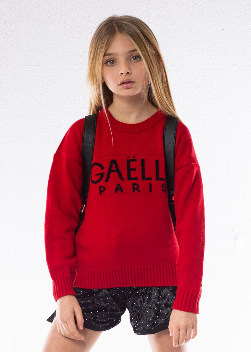SWEATER WITH EMBROIDERED LOGO