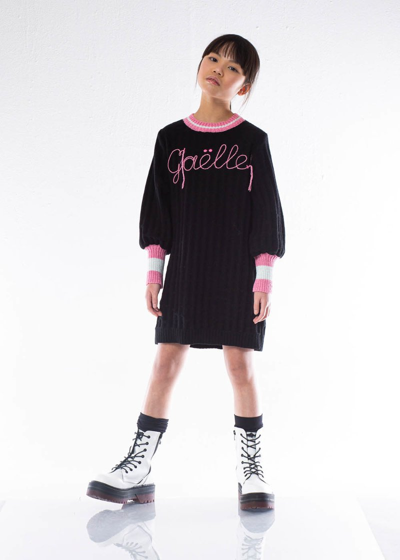 KNIT DRESS WITH EMBROIDERED LOGO