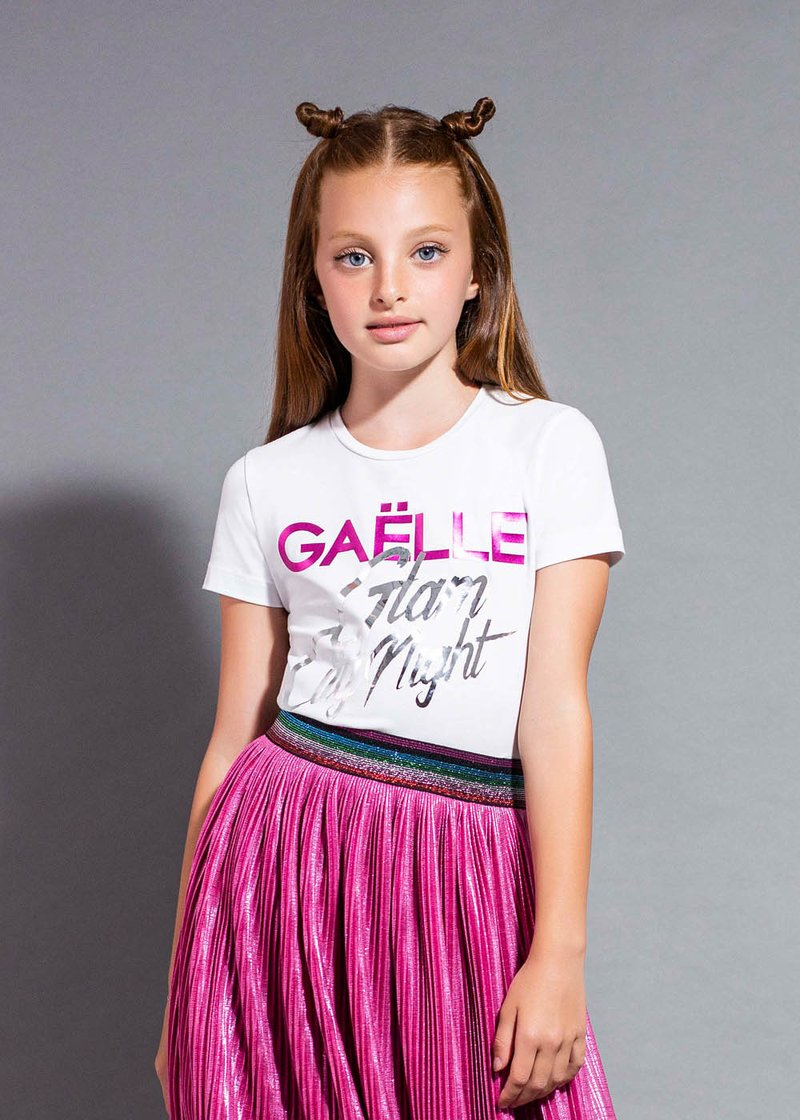"""COTTON T-SHIRT WITH """"GLAM NIGHT"""" PRINTING"""