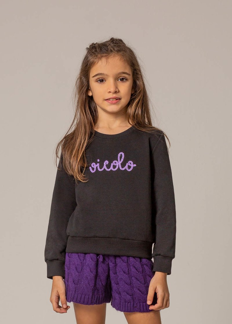 COTTON SWEATSHIRT WITH EMBROIDERED LOGO