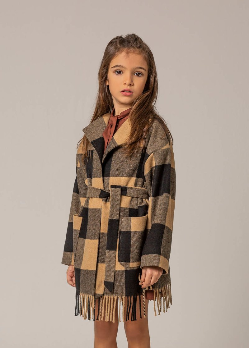 TRENCH COAT WITH CHECKED PATTERN