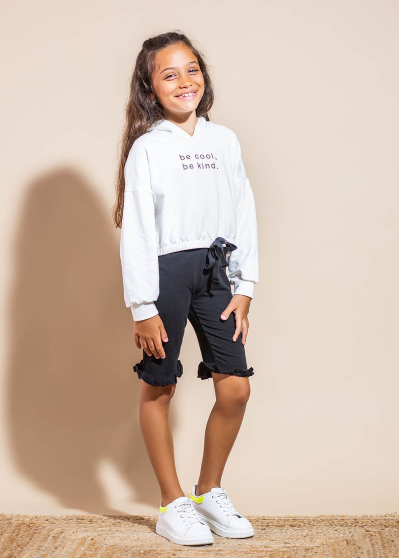 COTTON BERMUDA SHORTS WITH ROUCHES