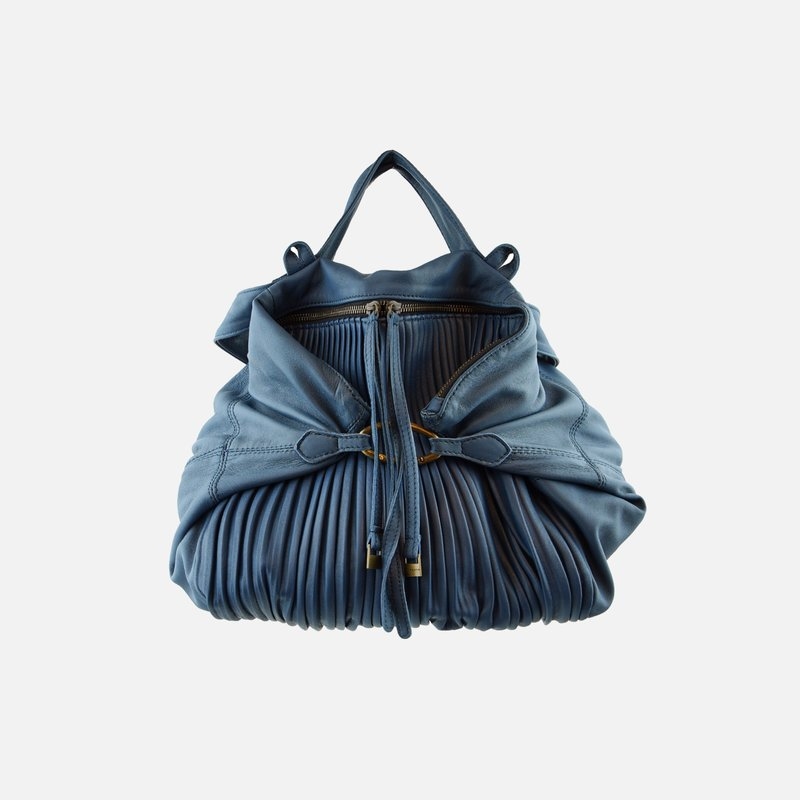 Mina pleated nappa