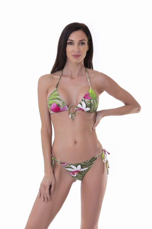 TRIANGLE BIKINI CIRCLE LEAF FANTASY