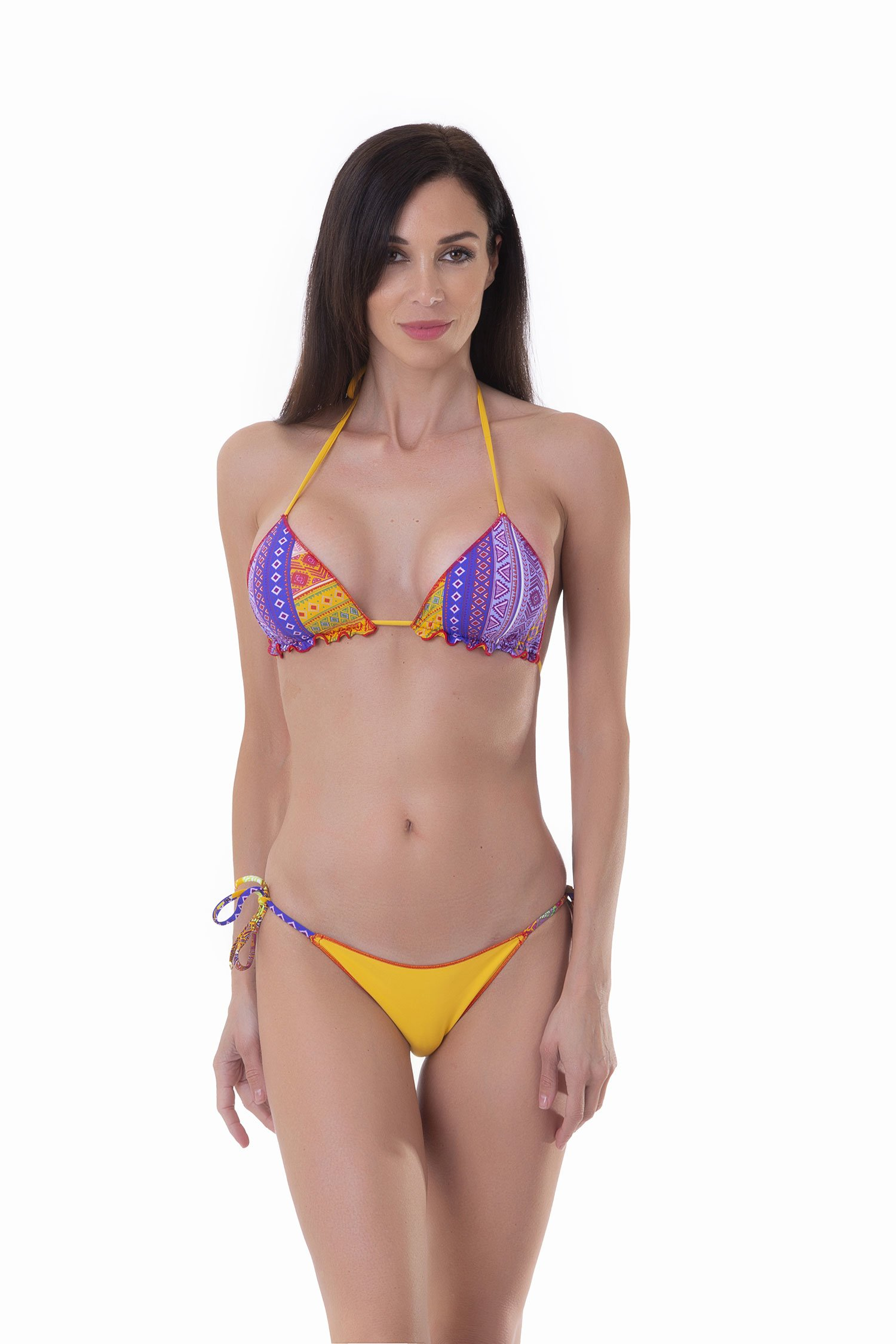 TRIANGLE BIKINI MIX PRINTED+SOLID COLOR - Etar+Migi