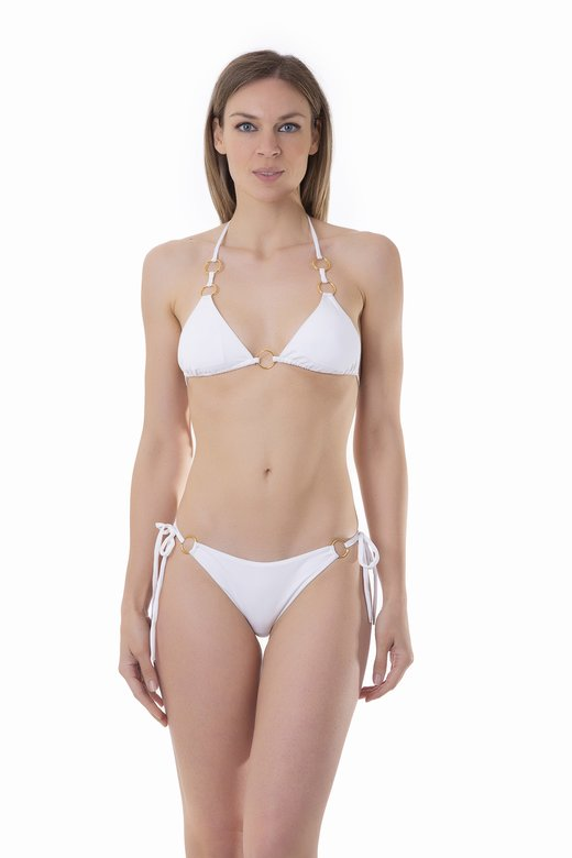 TRIANGLE BIKINI RINGS VICHY