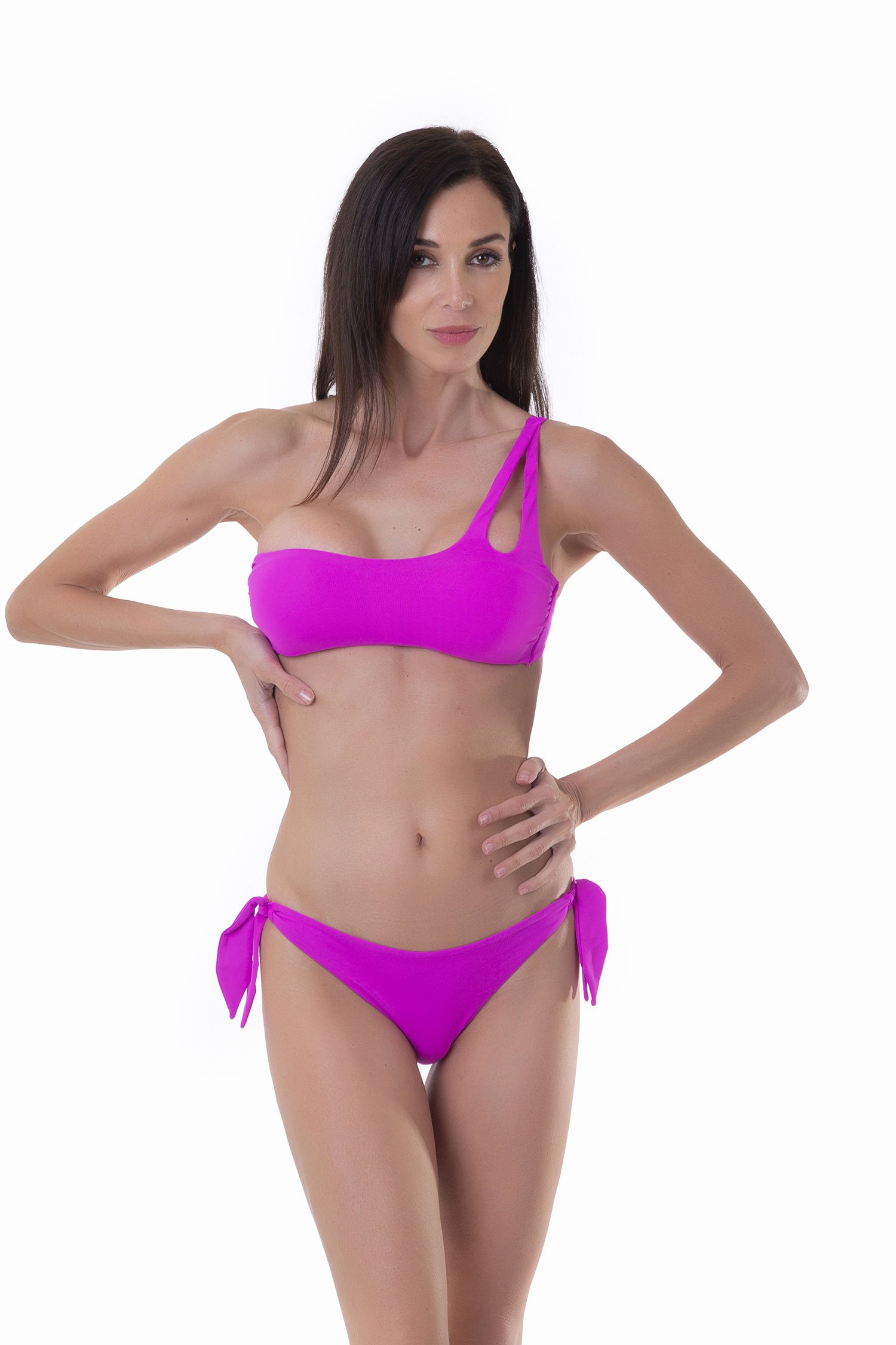 ONE-SIDE BADEAU SOLID COLOR - Fucsia