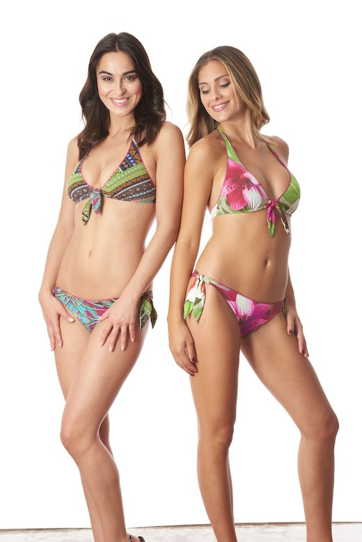 BIKINI HALTER MIX PRINTS