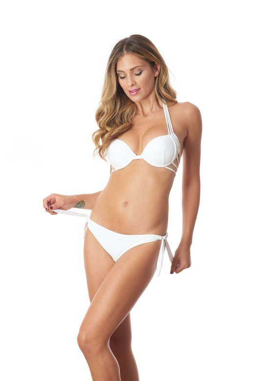 PUSH UP BIKINI  STRINGS - White