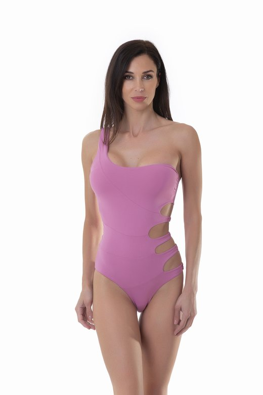 ONE SHOULDER ONEPIECE SOLID COLOR