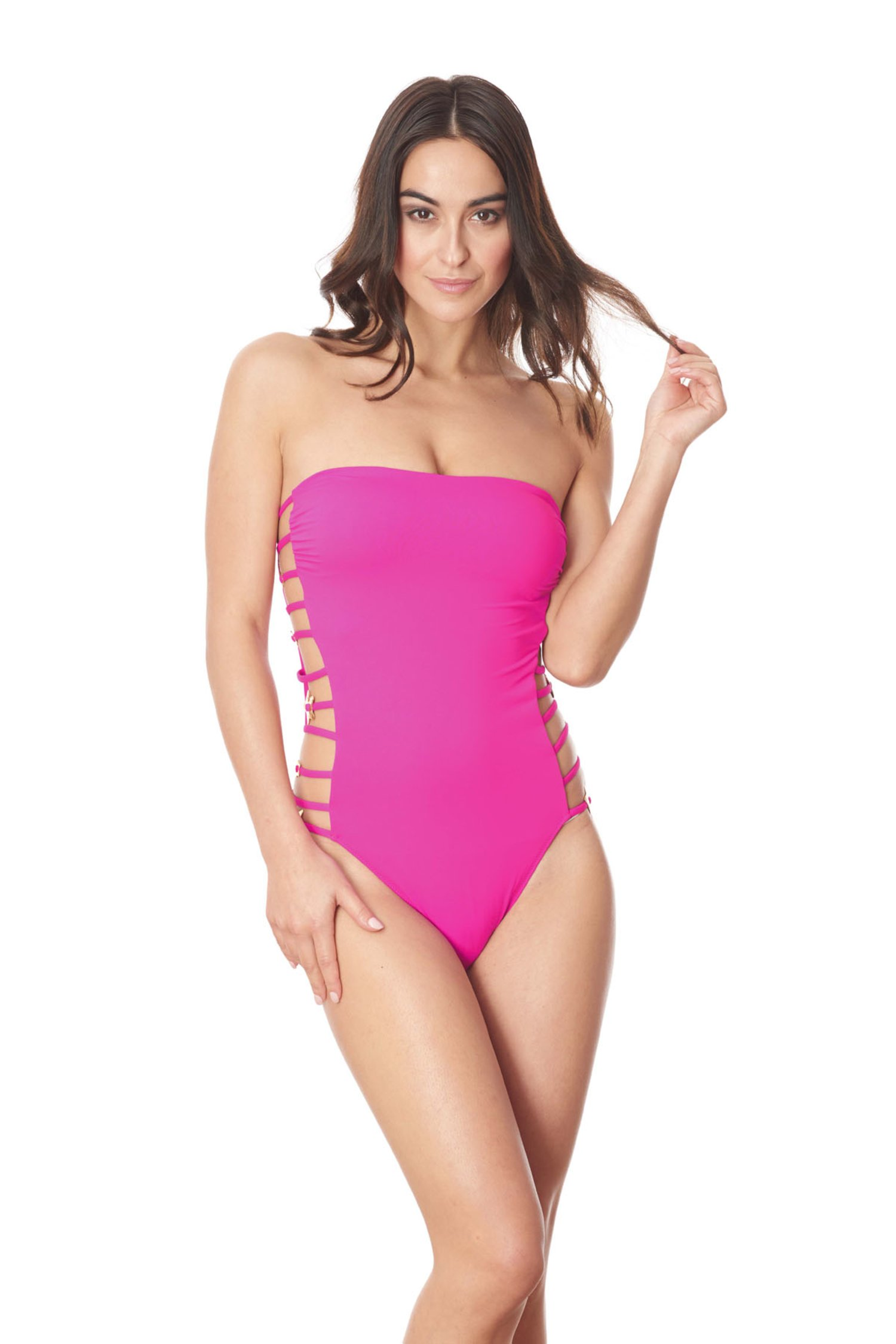 ONE PIECE STRINGS STARS SOLID COLOR - Fucsia