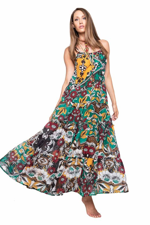 LONG SUNDRESS - Bandana Verde