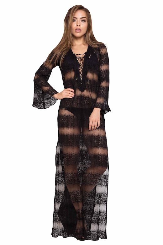 LONG KAFTAN LACE - Gradisca Nero