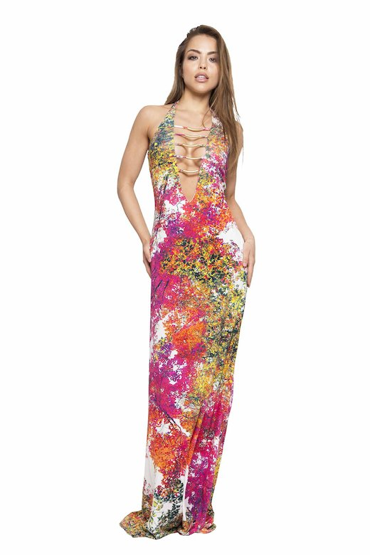 LONG DRESS WITH ACCESSORIES