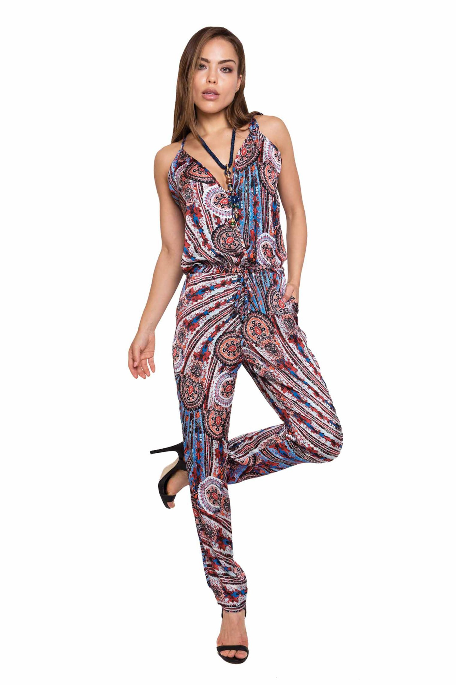 JUMPSUIT COULISSE ON THE SIDES