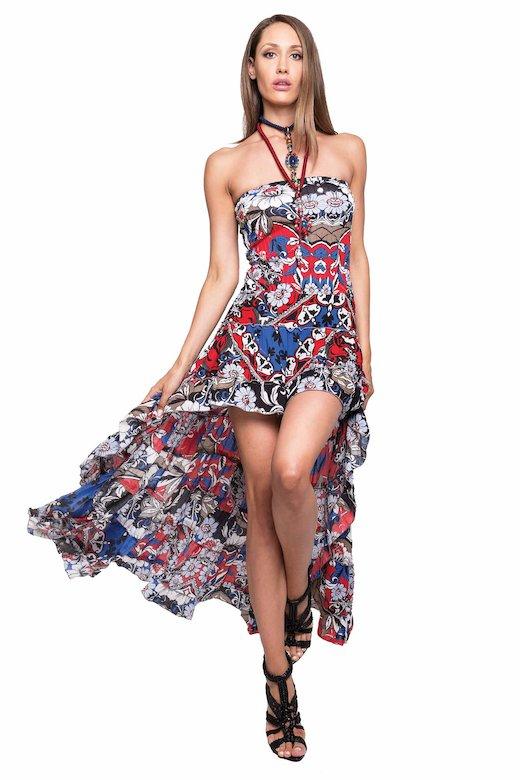 LONG ASYMMETRIC DRESS