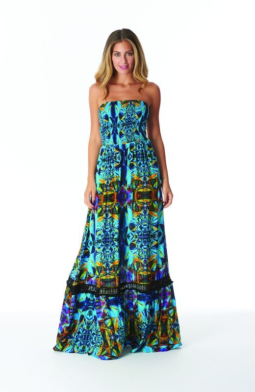LONG DRESS WITH CORSAGE