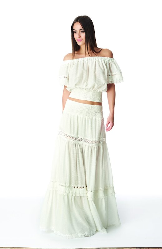 LONG SKIRT - White