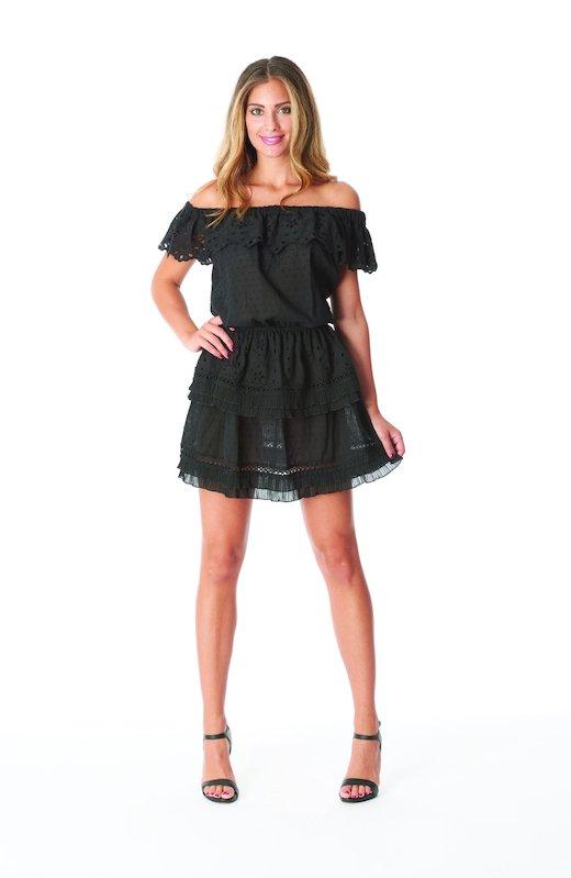 SHORT DRESS FLOUNCES