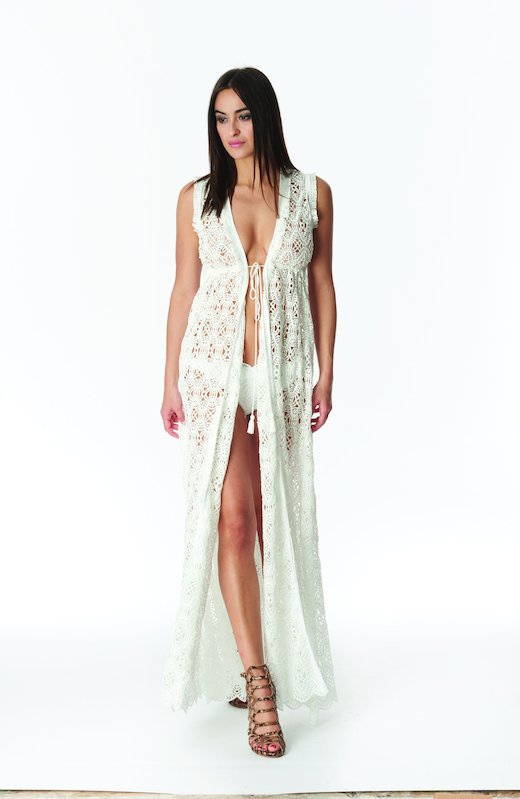 DRESSING GOWN LONG LACE