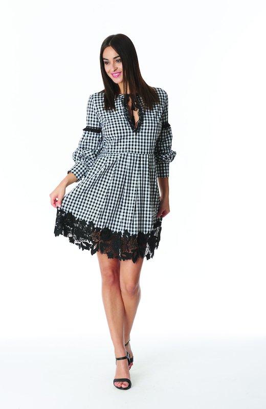 SHORT DRESS KAFTAN VICHY