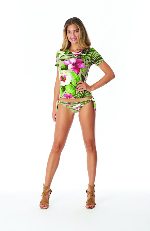 T-SHIRT - Tropical Flowers Beige