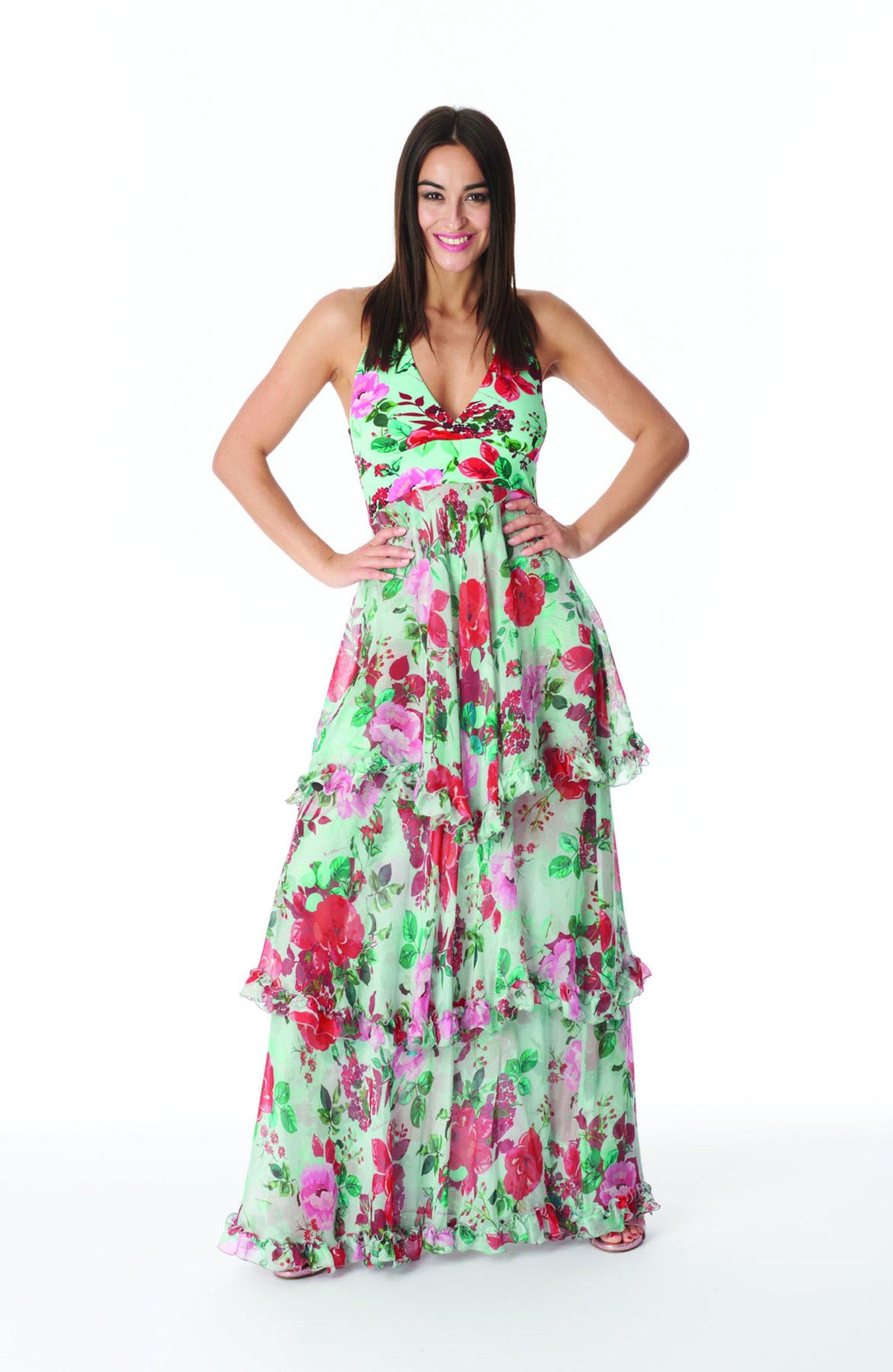 LONG DRESS SILK - Rose Polvere