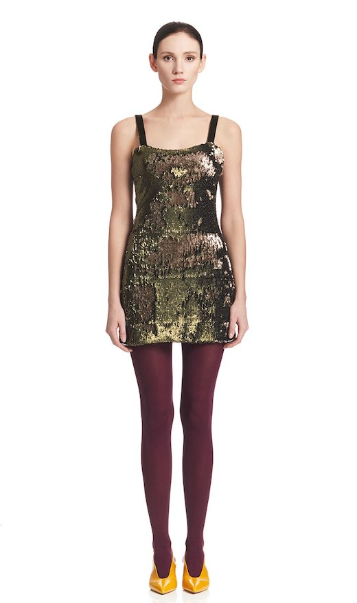 SHEAT DRESS MILITARY SEQUINS