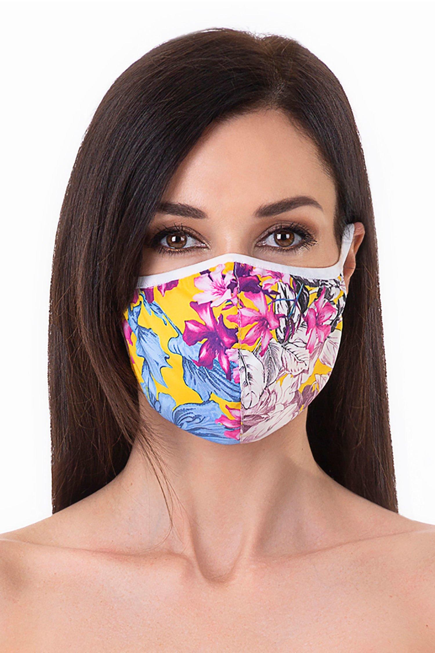 Cloth face mask - Fiori Giallo