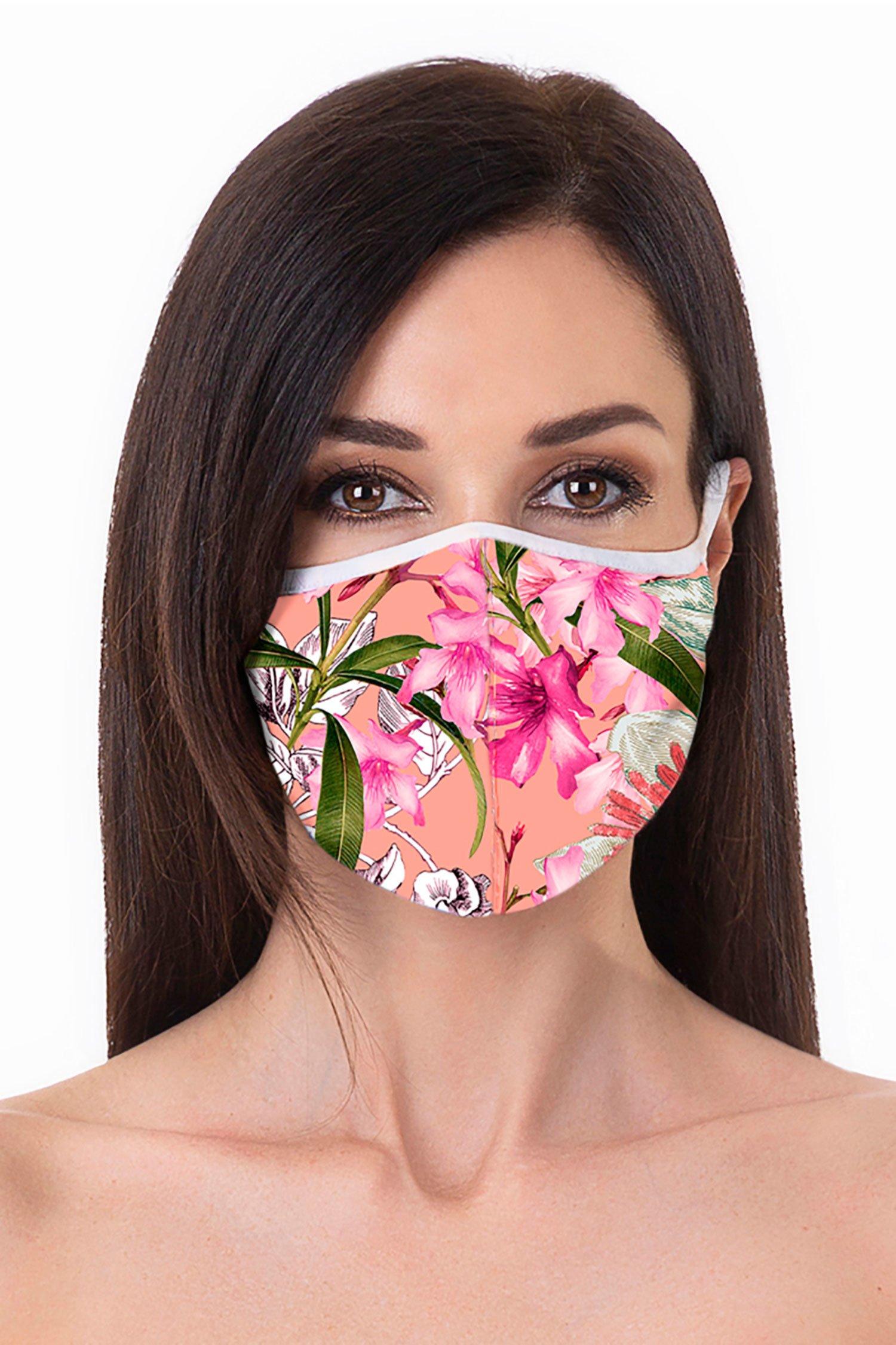 Cloth face mask - Fiori Pesco