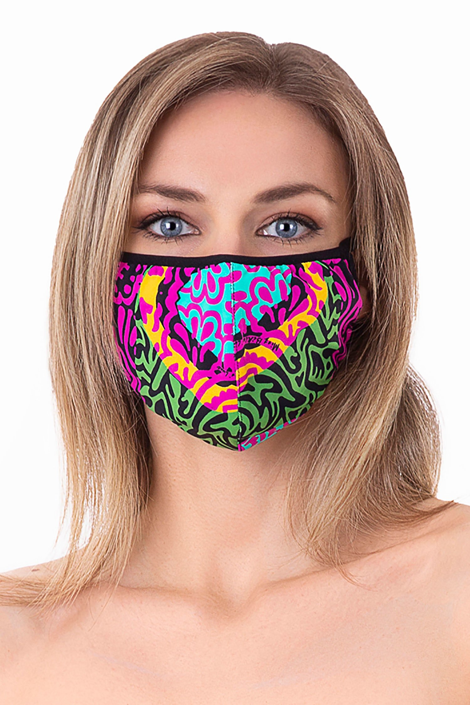 Cloth face mask - India Pop Fuxia
