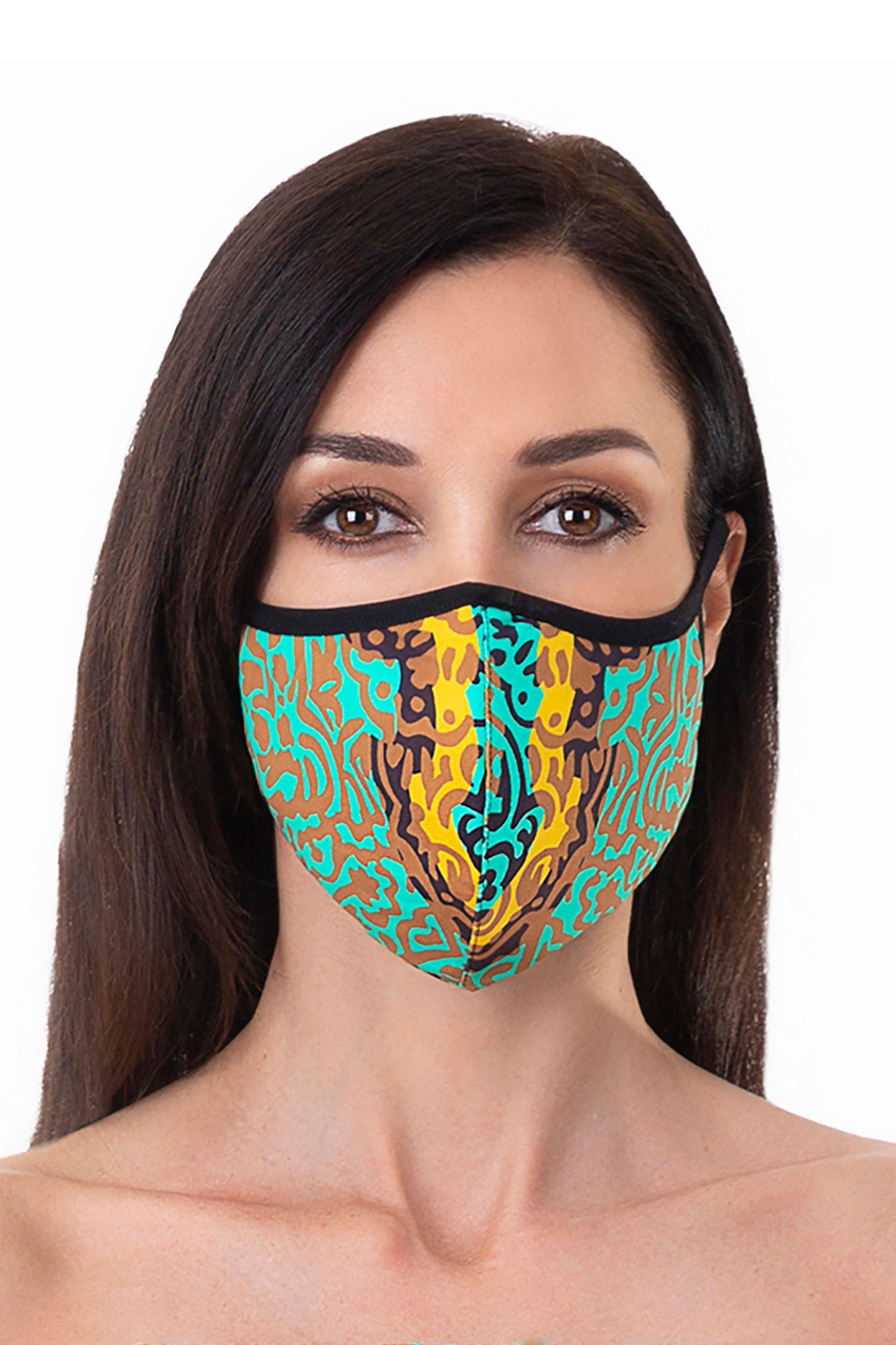 Cloth face mask - India Pop Marrone