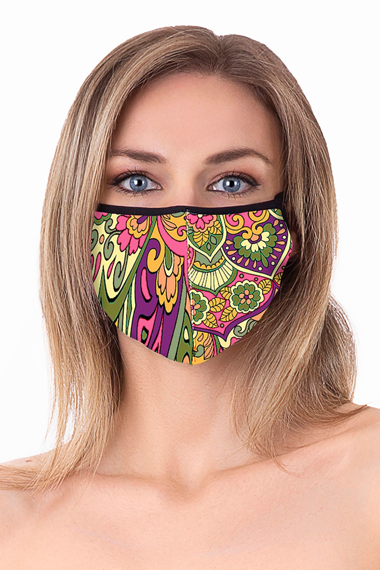 Cloth face mask - Mandala Fuxia