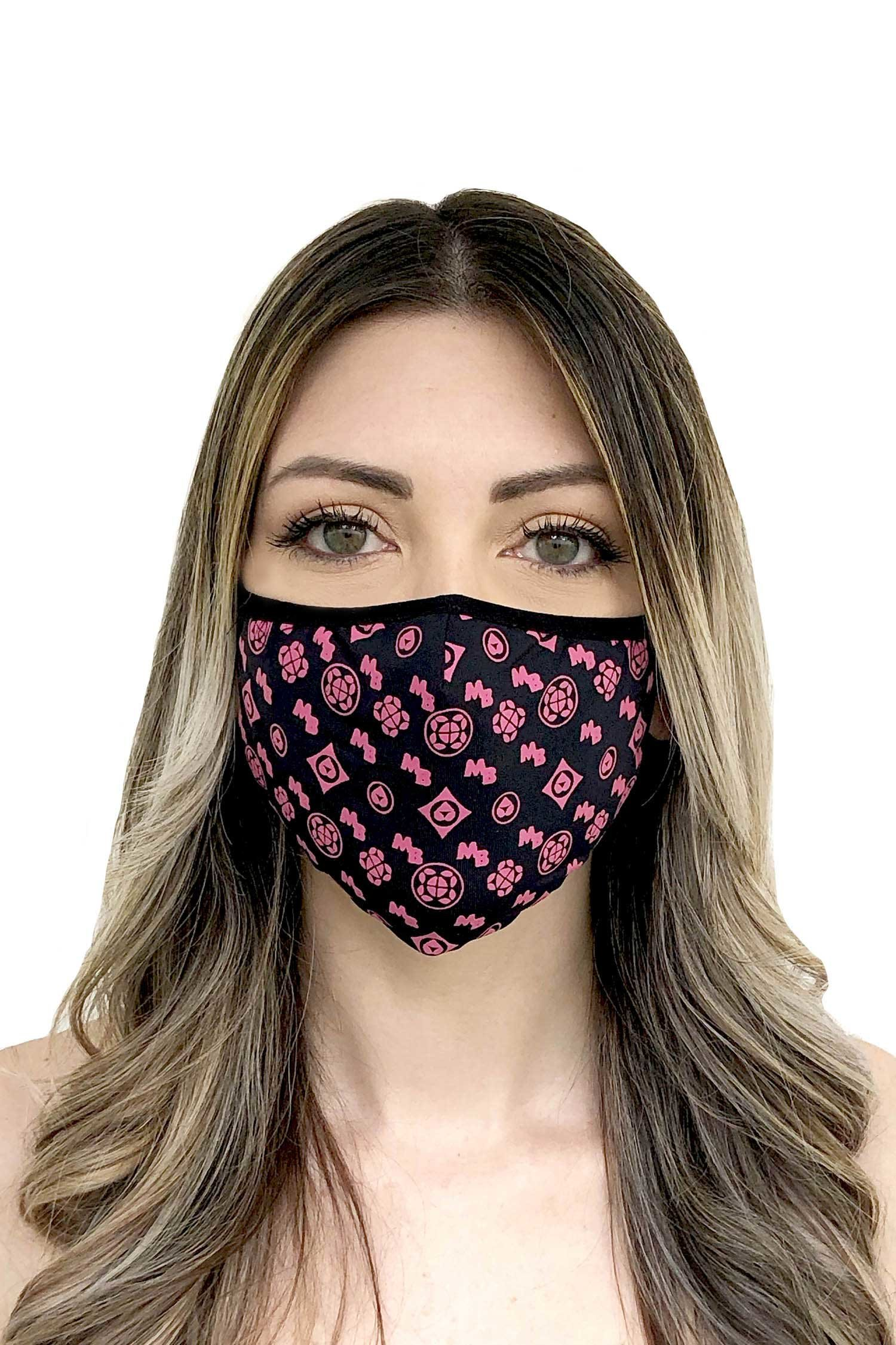 Cloth face mask - Nero Fucsia