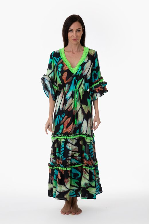 LONG KAFTAN IN VISCOSE