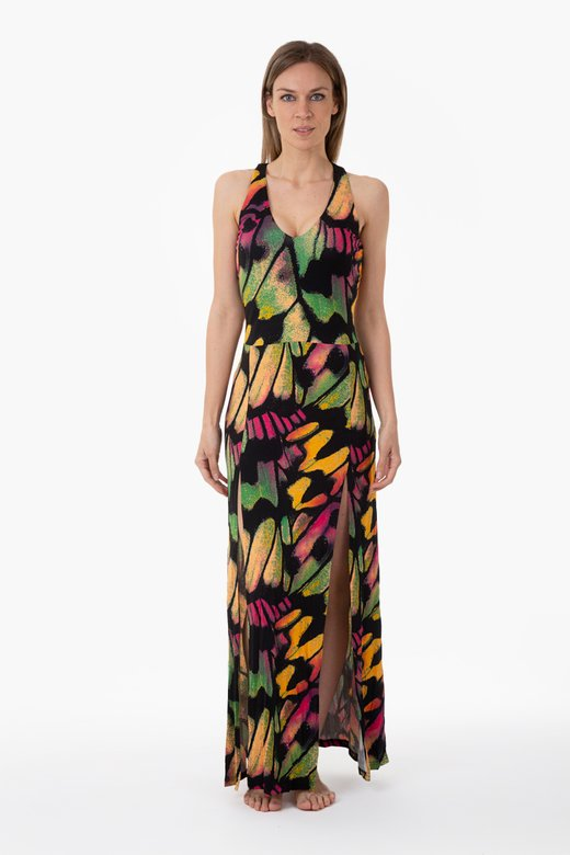 JERSEY LONG DRESS WITH SLITS