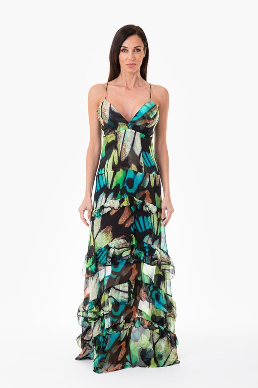 LONG EVENING DRESS IN SILK