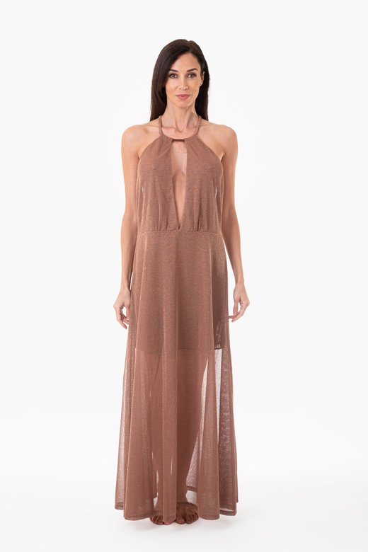 LONG DRESS  IN LUREX - Maglia Lurex Rame